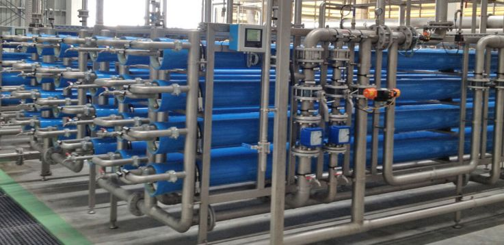 Reverse osmosis plant for water treatment
